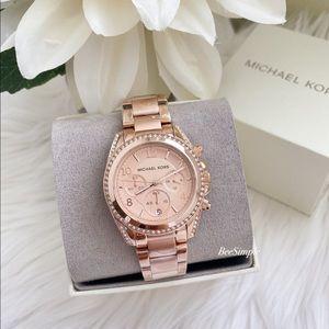 Michael Kors Blair Rose Gold-Tone Watch